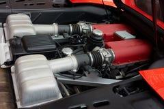 Motor van een sportwagen Stock Foto's