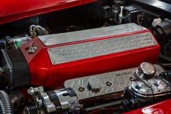 Motor van het Korvetc3 Pijlstaartrog van sportwagenchevrolet, close-up Stock Foto