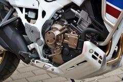 Motor van Honda-motorfietsclose-up stock foto