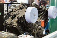 Motor van industriële luchtpomp Stock Foto