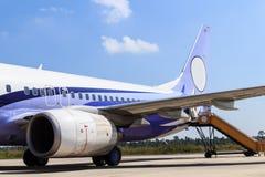 Motor van vliegtuig Stock Foto
