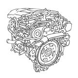 Motor. Vector illustration Royalty Free Stock Photos