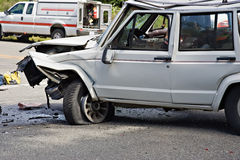 Motor vehicle accident Stock Photos