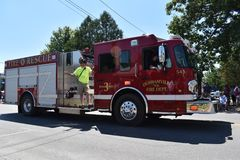 Motor Vehicle, Fire Apparatus, Vehicle, Fire Department royalty free stock photo
