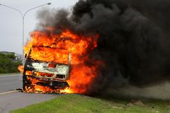 Motor Vehicle Inferno Stock Photos