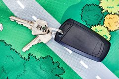 Motor Vehicle Keys Royalty Free Stock Photos