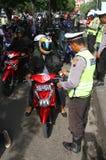 Motor vehicle raid Stock Photo