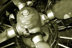 Motor velho Imagens de Stock Royalty Free