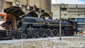 Motor velho do trem do vintage em Toronto Fotografia de Stock