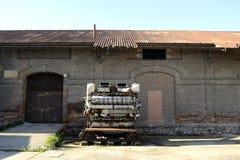 Motor velho oxidado do trem fotos de stock royalty free