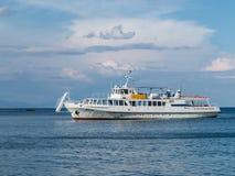 Motor vessel on  Black sea Stock Photos