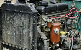 Motor viejo anticuado foto de archivo