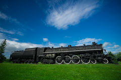 Motor viejo, antiguo del tren del vapor Imagenes de archivo