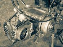 Motor viejo de la motocicleta Foto de archivo