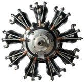 Motor viejo del aeroplano fotografía de archivo