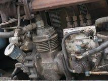 Motor viejo del fondo y del papel pintado del tractor Estilo retro Foto de archivo libre de regalías