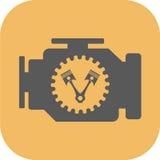 Motor Vlak Pictogram royalty-vrije stock fotografie