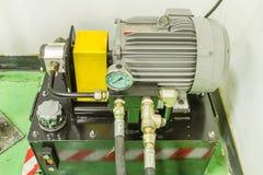 Motor voor hydraulische drukbouw Stock Afbeelding