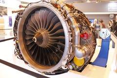 Motor voor passagiersvliegtuigen bij airshow van MAKS 2017 Royalty-vrije Stock Afbeeldingen