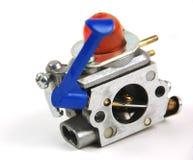 Motor y carburator para el cortacésped foto de archivo