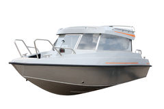 Motor yacht. Separately on a white background Royalty Free Stock Image