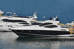 Motor yacht Stock Photography