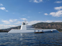Motor Yacht. A of 120 m,  design Philippe Starck, build at Blohm & Voss in Germany, owner Andre Meinichenko Stock Photo