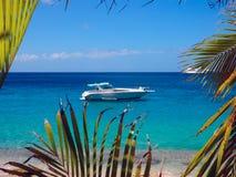 Motor yacht at anchor Royalty Free Stock Photography