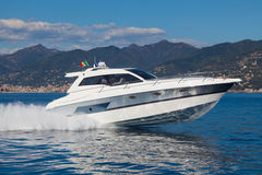 Motor yacht boat Stock Image