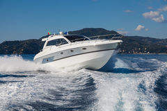 Motor yacht boat Stock Photos