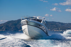 Motor yacht boat Stock Images