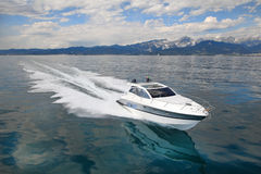 Motor yacht boat Stock Photography