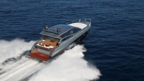 Motor yacht boat stock video footage