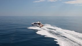 Motor yacht boat stock video