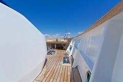 Motor-yacht detalj Arkivfoto