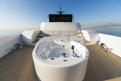 Motor Yacht, jacuzzi Royalty Free Stock Photo