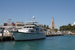 Motor Yacht in Miami Royalty Free Stock Photo