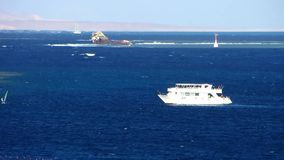 Motor yacht. At Red sea stock footage