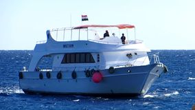 Motor yacht. At Red sea stock video footage
