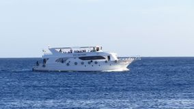 Motor yacht. At Red sea stock video
