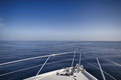 Motor yacht sailing. Over Adriaitic sea Stock Image