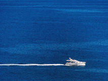 Motor yacht on the sea, Stock Images
