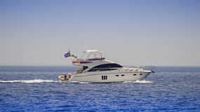 Motor yacht Stock Photography