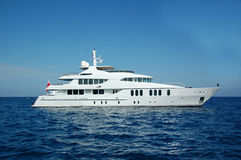 Motor yacht in south of France Royalty Free Stock Photos