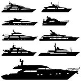 Motor Yacht Vector Royalty Free Stock Images