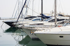 Motor yachts Stock Image