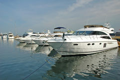 Motor yachts Stock Images