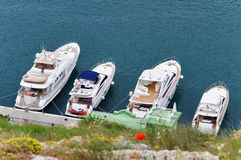 Motor yachts Stock Photography