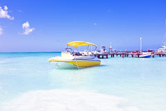 Motor yachts in the caribbic sea Royalty Free Stock Photography