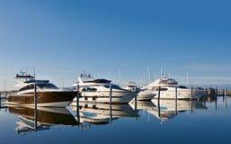 Free Motor Yachts In Marina Stock Photos - 19430173
